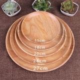 Multisize 둥근 큰접시 대나무 서빙 쟁반 격판덮개 식사 음식