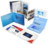 Folleto del LCD Saludo Negocio 4c personalizado que imprime la tarjeta video