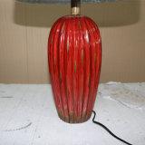 Lampe de table en céramique rouge en céramique