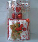 Caixa redonda clara para presente de casamento brithday (caixa de embalagem de plástico)