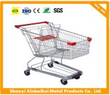 Carro plástico asiático de la carretilla de las compras con el asiento del bebé