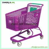 低価格のスーパーマーケット米国式亜鉛ショッピングトロリー