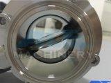 Válvula de borboleta manual sanitária soldada do aço inoxidável (ACE-DF-7V)