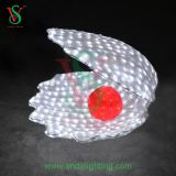 3D Color blanco de la luz de Motif Shell LED para interiores y decoración exterior