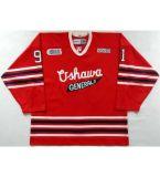 Новая настройка Ohl Oshawa генералов Джерси 91 Джон Таварес мужская женщин Детский красный персонализированные 100% сшитое Хоккей футболках Nikeid Goalit разрез