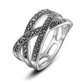 Marcasite poco anello di pietra del costume dell'argento dell'annata dell'anello