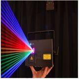 RGBのフルカラー3000MW小型アニメーションのプログラム可能なレーザー光線ショー100kHz 90 - 240 V AC