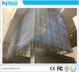 Visualización de LED transparente a todo color de la ventana P5m del departamento