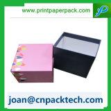 Caixa de papel de Gourment do cartão desobstruído do indicador da tampa