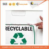 Impresión de etiquetas de la etiqueta engomada Etiqueta engomada adhesiva de papel para Ash-Bin bote de basura cubo de la basura