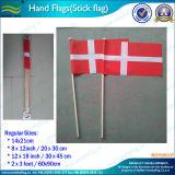 Bandierina di legno della mano della Danimarca del cotone (B-NF10F02009)
