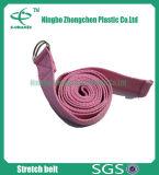 """Esercitazione & allungare le cinghie di yoga del cotone della cinghia di yoga di forma fisica con l'anello a """"D"""""""