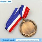 Trophée sportif de pièces de monnaie en laiton antique de haute qualité
