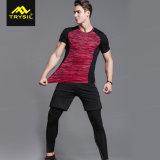 Верхние части Mens плотно, краткости & длинние кальсоны Legging комплекты 3 частей