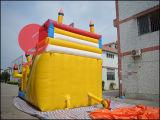 Chrildrenの運動場(T4-612)のための膨脹可能な弾力がある城のおもちゃの波のスライド