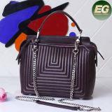2017 Sac de femmes populaire 100% sac à main en cuir véritable sac à main pour femme avec chaîne Emg4944