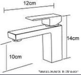 Filigrana sanitaria degli articoli & miscelatore d'ottone Tapware (HD4203) del bacino del singolo quadrato della leva di Wels