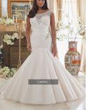 2017 [أفّ-شوولدر] حجم فعليّة زفافيّ عرس ثوب [بلد006]