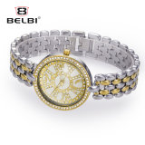Nuevo reloj impermeable ultrafino de alto grado del cuarzo del acero inoxidable del reloj de señoras del reloj de la pulsera de Belbi