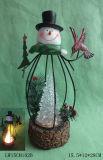 Mobília do suporte de vela da estátua do Natal para a decoração Home
