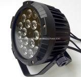 Luz lisa magro UV ao ar livre da PARIDADE do diodo emissor de luz de 18*15W RGBWA com rádio