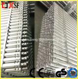 Tube en acier avec les garnitures d'extrémité ou le tube de blocage de torsion pour l'échafaudage