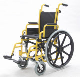 Niños, manual de acero, silla de ruedas, (YJ-013B)