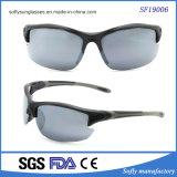 Mann-Entwurfs-halber Rahmen treffen Sport-Sonnenbrillen über