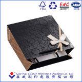 Sac de papier de cadeau commercial UV de luxe d'impression, sac de empaquetage de papier de cadeau créateur