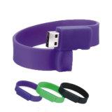 Movimentação do flash do disco do USB do bracelete 16GB do silicone da promoção de China