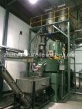 Mesa de mezclas de polvo de plástico con el calor y frío máquina mezcladora