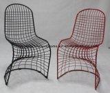 Replik, die Gaststätte-stapelbaren Zeichenketten Panton Stahldraht-Stuhl speist