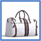 La fábrica hace que la PU el cuero maneja el bolso del recorrido de la lona, bolso práctico del equipaje del totalizador, bolso de hombro del asunto para el recorrido