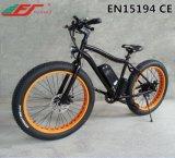 Neumático Gordo Vendedor Caliente Ebike de la Suspensión, Bici Eléctrica del Crucero de la Playa