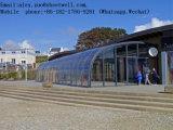 Sitio de aluminio de encargo de la luz del sol del toldo de Rainshed Balkon del pabellón del acero inoxidable