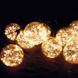 LEDストリングは屋外低い地球ストリングライトクリスマスの装飾をつける