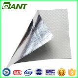 Lámina de aluminio con tejido