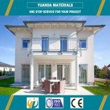 Chambre en acier préfabriquée de Chambre de vert préfabriqué de luxe respectueux de l'environnement de villa