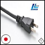 plugue padrão do cabo de potência do Pin PSE Japão de 12A 250V 2-Flat