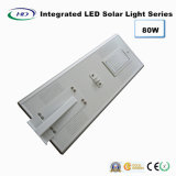luz de rua solar Integrated do diodo emissor de luz do sensor de 80W PIR