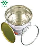 10L vide de l'huile du moteur de tambour seau de peinture d'étain métallique avec ergot couvercle&poignée pour la peinture à base de solvant utilisé seau métallique avec bague de verrouillage couvercle du godet