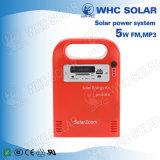 Whc Kit d'énergie solaire LED 6V5w rechargeable pour camping