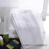 Tovagliolo tessuto dell'hotel di marchio impresso jacquard bianco del cotone