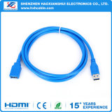 Mâle bleu de câble usb de prolonge d'usine à la femelle