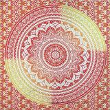 La CDC 100% de polyester a estampé l'écharpe carrée avec le modèle de mandala (H18)