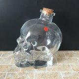 frasco de vidro do crânio 14oz com cortiça 400ml