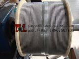 cuerda de alambre de acero inoxidable de 6X19+Iwrc 12m m