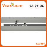 130lm/W imperméables à l'eau chauffent l'éclairage linéaire blanc de bureau de DEL