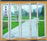 Salle de bains en PVC de style européen de la conception de la porte UPVC Porte en accordéon
