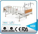 Quatre manivelle manuelle cinq lit d'hôpital de fonction
